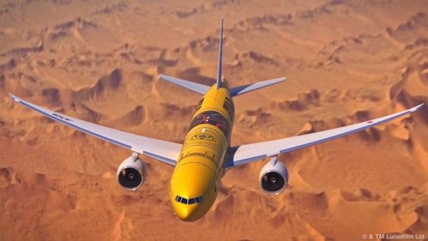 ana c3po airplane jet star wars domestic flights