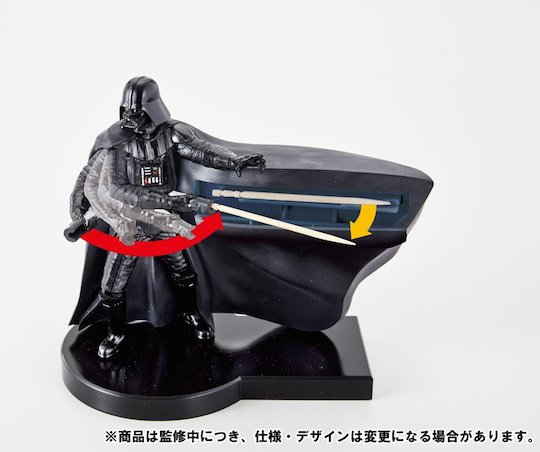 darth vader toothsaber toothpick dispenser bandai japan