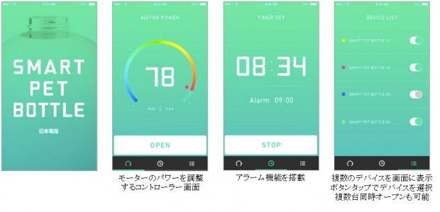motorize smart pet bottle app japan 6