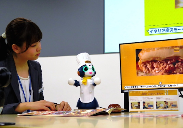 cocos family restaurant robot tabletop japan