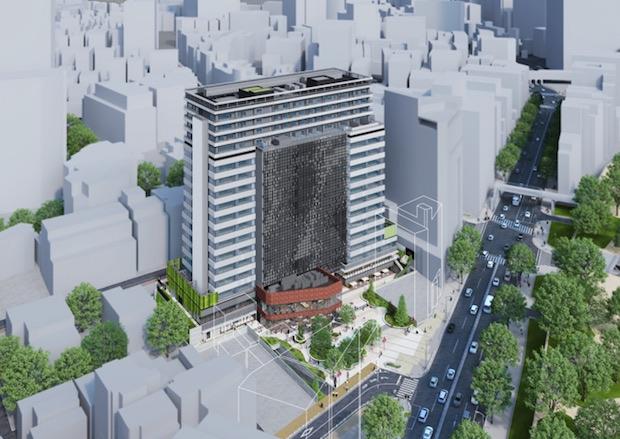 shibuya cast skyscraper complex tokyo opens