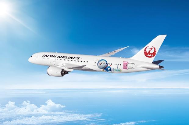 japan airlines JAL doraemon plane beijing tokyo haneda Guangzhou