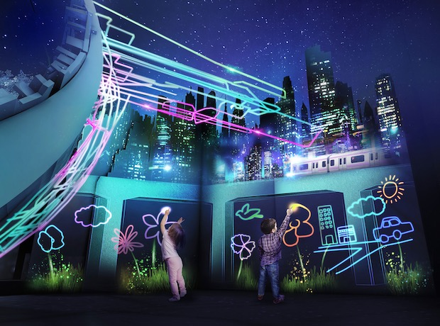 tokyo art city naked projection mapping event