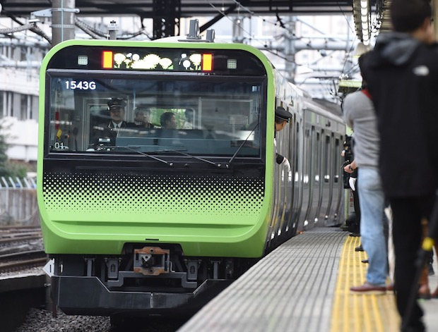 security cameras jr yamanote line train rail tokyo olympics increased surveillance