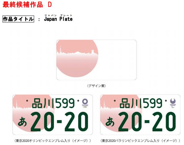tokyo 2020 summer olympics license plate design contest 5