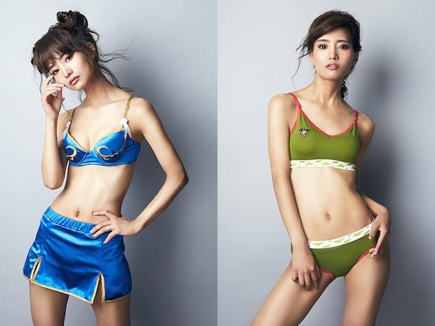 chun-li cammy street fighter cosplay lingerie underwear