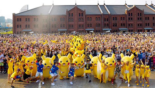 pokemon go pikachu outbreak yokohama 2017