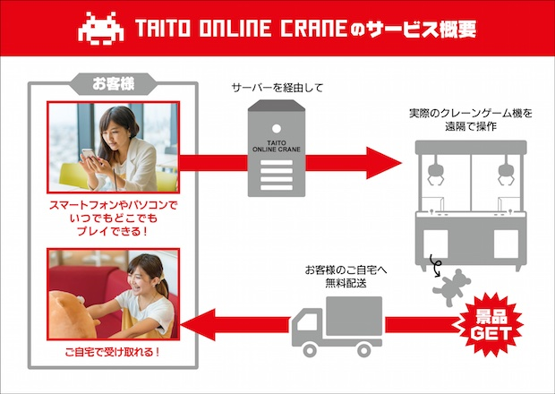 taito online crane game claw