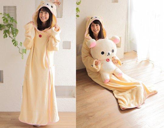 korilakkuma wearable blanket loungewear