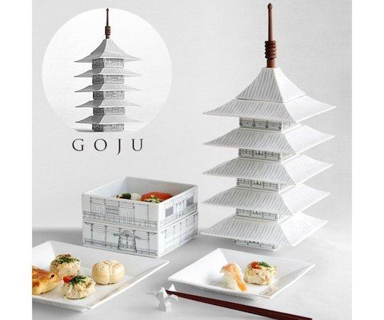 goju kyoto pagoda temple ceramic dinnerware