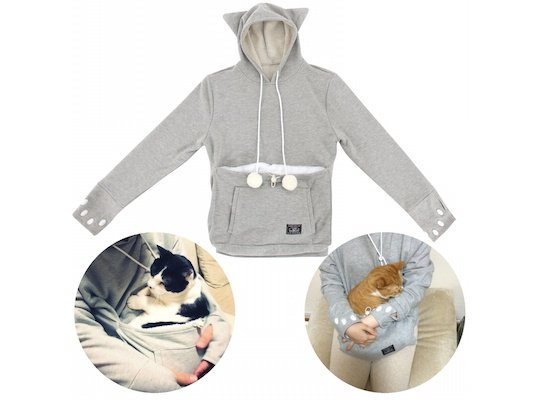 mewgaroo hoodie cat pouch snuggle cuddle clothes