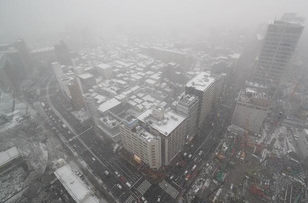 tokyo snowfall winter heavy