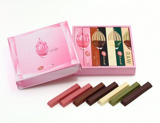 kit-kat japan sublime ruby chocolate set
