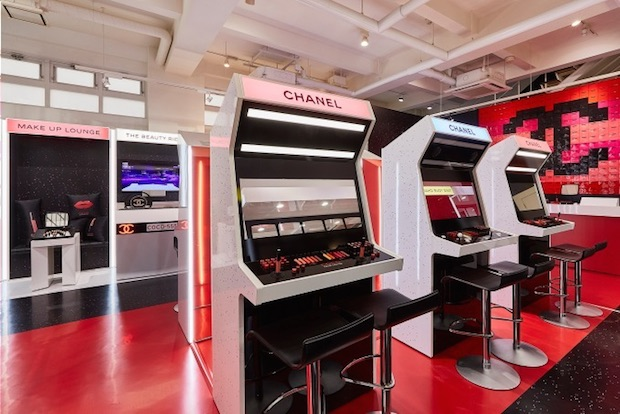 chanel coco game center arcade sampling shibuya tokyo japan