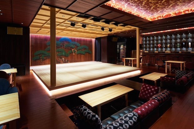 suigian noh theater sushi restaurant tokyo nihonbashi