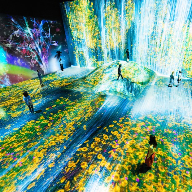 mori building teamlab digital art museum borderless immersive tokyo projection technology