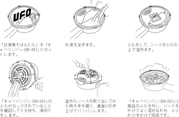 cabbage drainer nissin instant noodles yakisoba ufo shaking lid draining