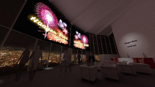 haagen dazs hanabi bar fireworks tokyo