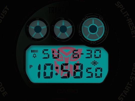 casio g-shock transformers optimus prime wristwatch