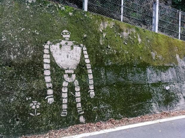 studio ghibli hayao miyazaki anime characters mural moss art