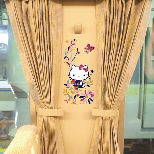 hello kitty haruka express train kansai airport kyoto sanrio