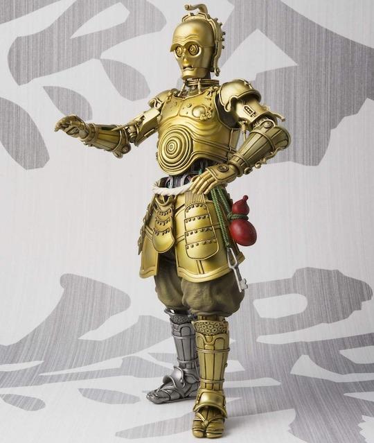 samurai c3po star wars droid action figure mash-up history japanese puppet meisho movie realization bandai tamashii nations
