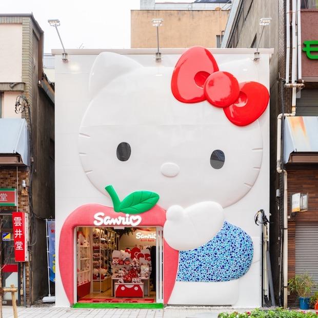 hello kitty rickshaw tokyo asakusa japan tourists ride