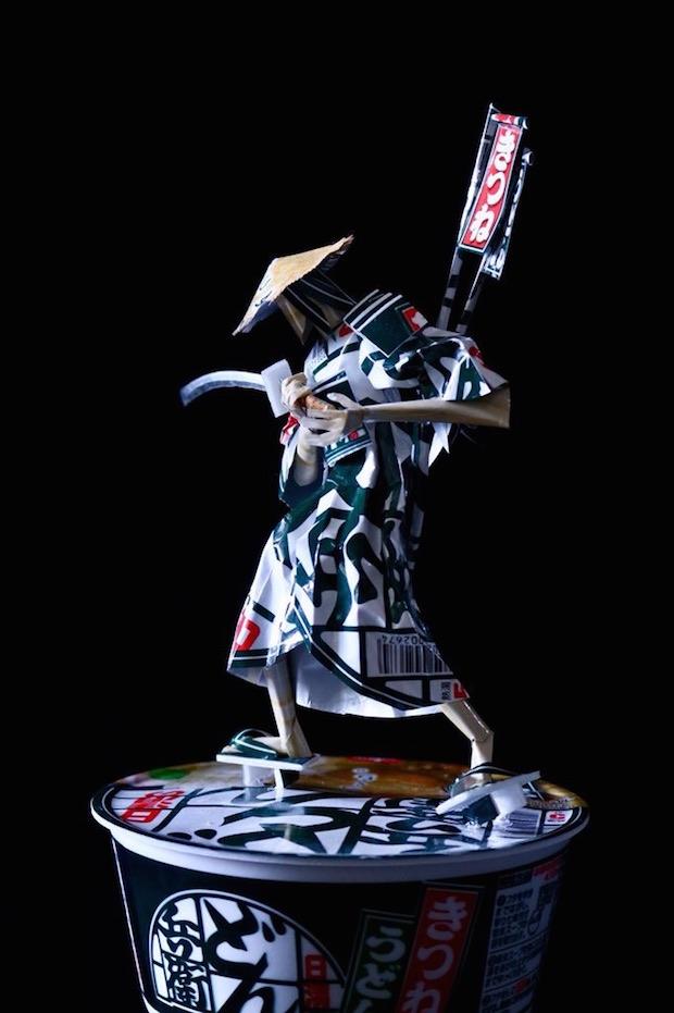 nissin donbei noodles instant samurai warrior figure model crafted japanese