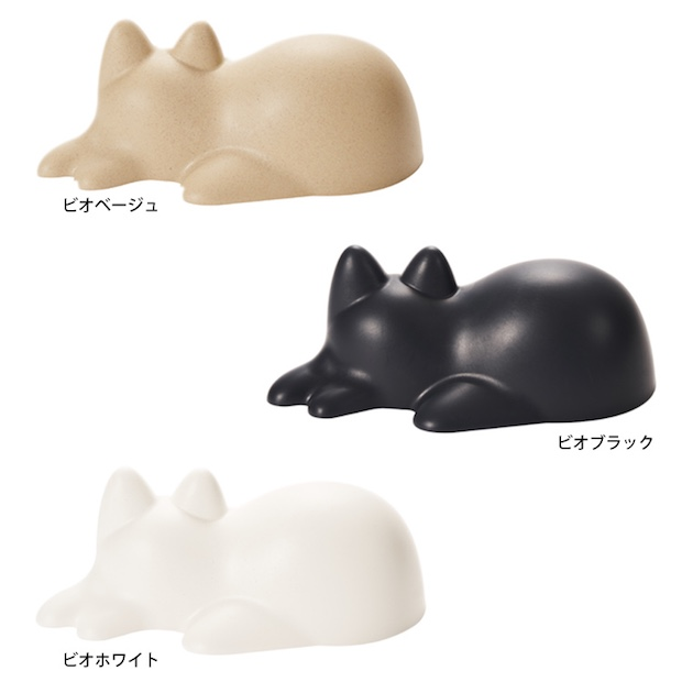 neko cup sand sleeping cat japan sculpture