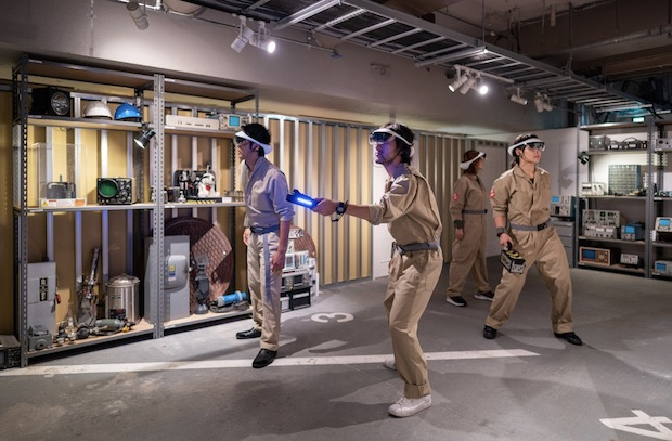 ghostbusters tokyo park ginza sony augmented reality