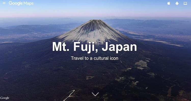 google maps street view fuji mountain japan travel