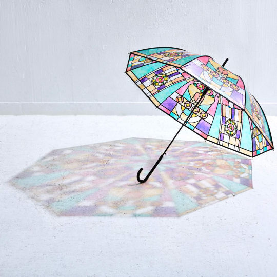 stained glass umbrella japan rainy season