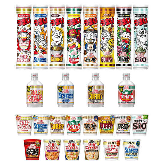 nissin 50th anniversary noddle cup instant soda pack umaibo